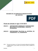 Resume n Modificaciones 2013