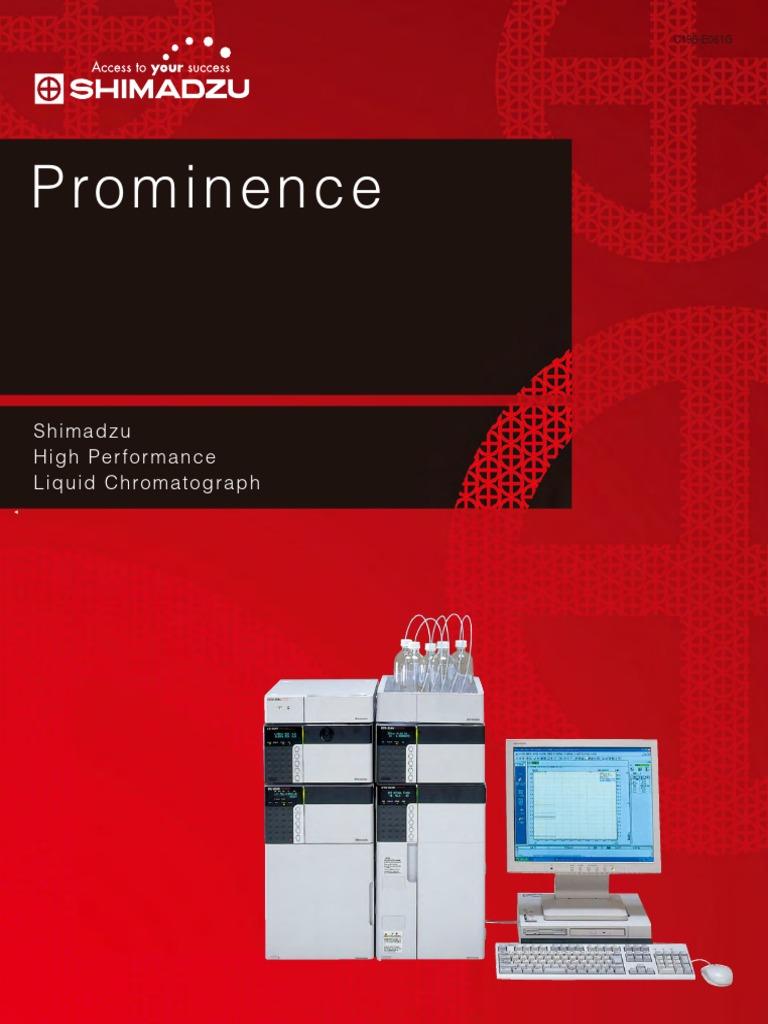 Shimadzu Prominence Brochureg   High Performance Liquid