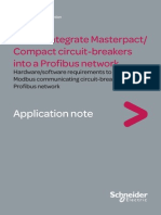 Schneider How to Integrate Masterpact Compact Circuit-breakers Into a Profibus Network