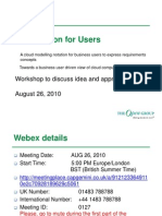 Cloud Notation for Users Workshop Aug 26 2010 v2