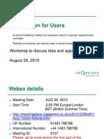 Cloud Notation for Users Workshop Aug 26 2010 v2