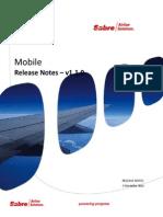 Mobile Release Notes v1.1.0