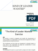 The Kind of Leader Wanted