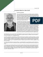 CV of John Croft - Founder of Dragon Dreaming