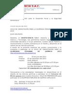 INVITACIÓN PARA EL CONCURSO DE BECAS DEL CICLO DE OPQ 2013