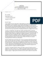 letter to a principal