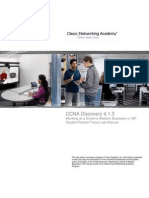 CCNA Discovery 4 Working at a Small to Medium Business or ISP Student Lab Manual