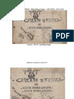 Manteigas CADERNO de MÚSICA de Elísio Rabaça Gaspar, 1907 - 1972