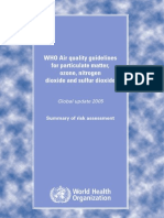 WHO Air Quality Guidelines for Particulate Matter, Ozone, Nitrogen Dioxide and Sulfur Dioxide