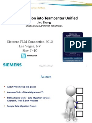 Data Migration Into Teamcenter Unified v1 0 | Product