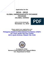 2014 Global Ugrad Apps