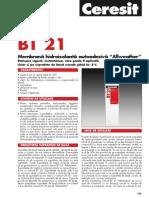 BT 21 Fisa Tehnica