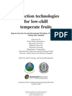 Production Technologies for Low Chill Temperate Fruits