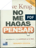 No Me Hagas Pensar-2 Edicion-Steve Krug