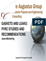 13 - Jesse Meisterling Gaskets and Leaks PVRC Recommendations and Studies