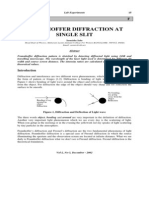 Fraunhoffer Diffraction at Single Slit