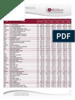 Tabela 2012 - Setembro ALVARO