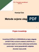 Metode ocjene ulaganja (10)