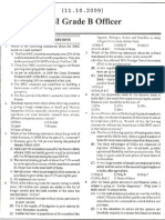 RBI Grade B Officer Question Paper 2009