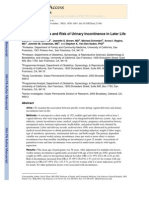 Parturition Events and Risk of Urinary Incontinence in Later Life