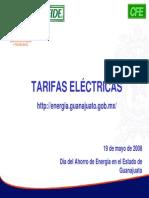 Tarifas Electricas Concyteg Fide