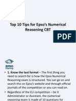 Top 10 Tips for Epsos Numerical Reasoning CBT