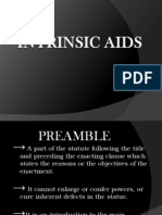 Intrinsic Aids