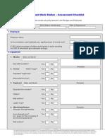 Workstation Assessment Checklist