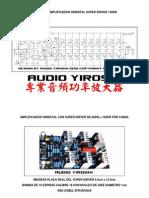 Amplificador Yiroshi TR3500 Con Super Driver 1500W
