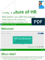 Future of HR - Wali Zahid SHRM HR Conference v1