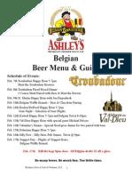 Ashley's 2013 Belgian Beer Festival program