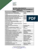 Novedades Bibliograficas, Facultad Ciencias Adtivas, Economicas y Contables