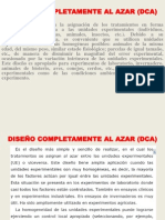 DISEÑO COMPLETAMENTE AL AZAR (DCA)