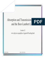 Absorption and Transmission of Light