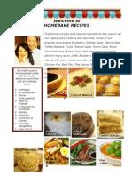 Homebake Recipes WEF 2013 Oct 3