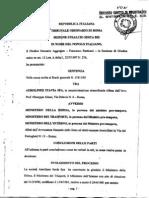 Ustica, sentenza Itavia-ministeri, 25 luglio 2003
