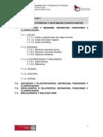 u.t. 7. Aglutinantes Pictoricos y Sustancias Coadyuvantes(1)