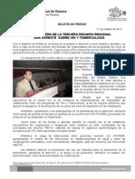 21/10/13 Germán Tenorio Vasconcelos OAXACA, SEDE DE LA TERCERA REUNIÓN REGIONAL SUR SURESTE SOBRE VIH Y TUBERCULOSIS