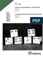 Relés de sincronismo y protección CELSA