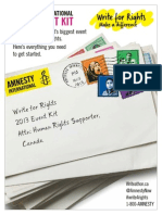 Write For Rights 2013 Event Kit