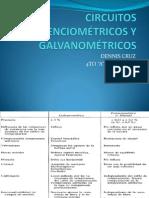 CIRCUITOS POTENCIOMETRICOS GALVANOMETRICOS