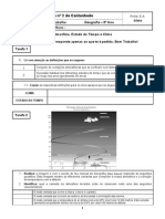 Estado Do Tempo e Clima, Ficha E.a.