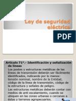 Ley de Seguridad Electrica