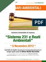 Dr.ssa Paola Fiore ETICAMBIENTE® Seminario Ambientale - Sistema 231 e Reati Ambientali 6 Novembre 2013