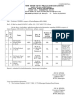 De . PE Report in Respect of Junior Engineer-I & II
