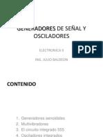 GENERADORES SEÑAL Y OSCILADORES