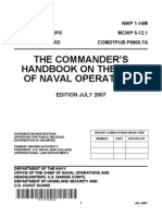 The Commander's Handbook on the Law of Naval NWP