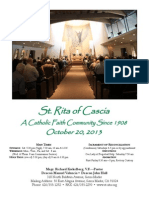 St. Rita Parish Bulletin 10/19/2013