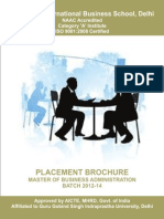 MBA Placement Brochure