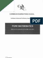 Cape Maths 2013